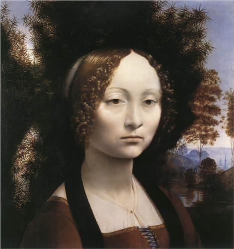 Leonardo da Vinci - Portrait of Ginevra Benci [1474]