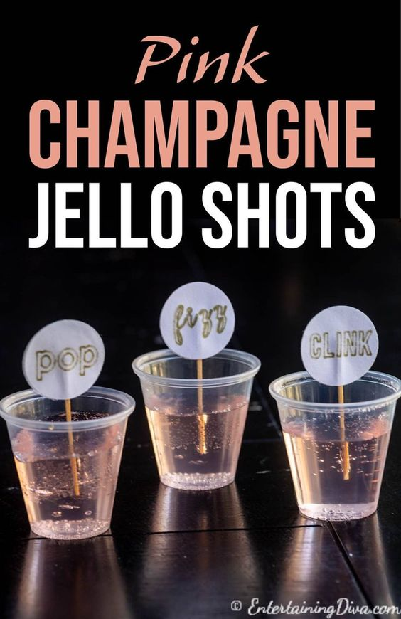 Pretty Pink Champagne Jello Shots - Entertaining Diva Recipes @ From House To Home