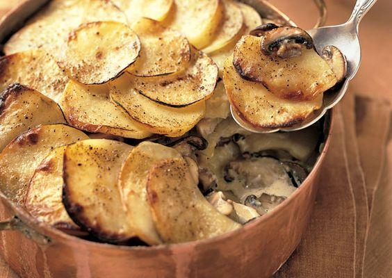 ... Gratin   Recipe   Wild Mushrooms, Yukon Gold Potatoes and Gratin