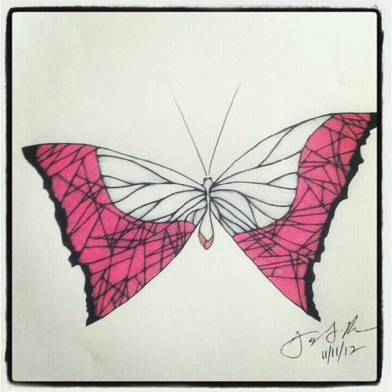 100 Butterflies in 100 Days, Day 42, Medium: Color Pencil