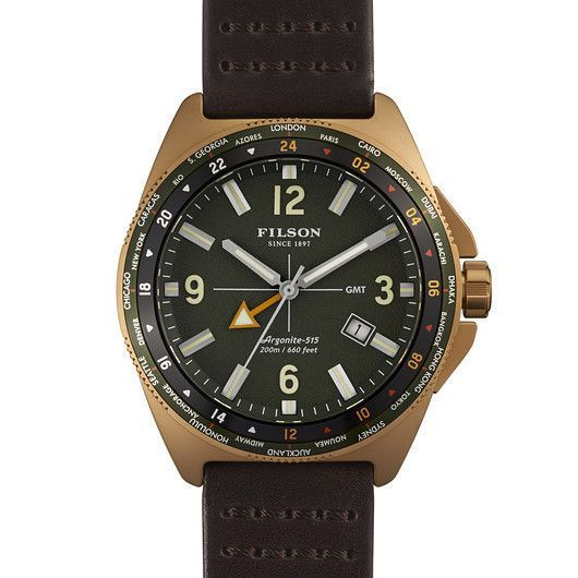 Filson Journeyman GMT Watch | Green