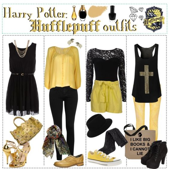 """Harry Potter: Hufflepuff Outfits"" by roseygal-16 on Polyvore"