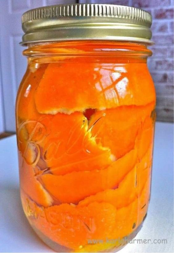 Soak orange peels in vinegar for 2 wks in vinegar in a sealed mason jar. Pour into spray bottle use for cleaning or bug spray.  Works great for ants!:
