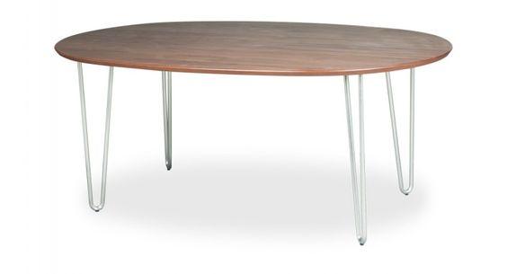 Modern oval table for kitchen -- Vio Dining Table (Oval) Walnut Veneer Walnut $649