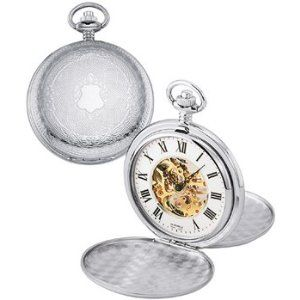 Colibri Classical Mechanical Skeleton Pocket Watch 17 Jewels with Easy to Read Numbers PWS095809X (Watch)