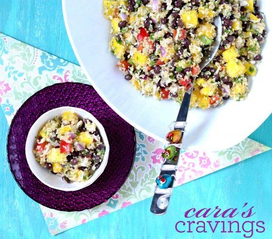 Tropical Black Bean Mango Quinoa Salad