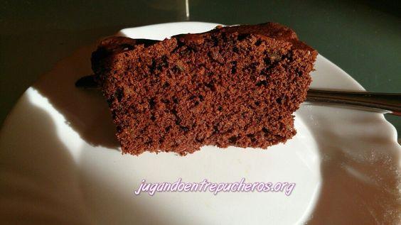 Plumcake de chocolate con nueces - Jugando entre pucheros