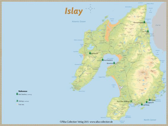 Whisky Regions of Scotland · Chart 24: Region Islay (Malt Distilleries (working)) www.alba-collecti...