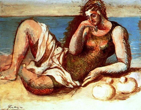 Pablo Picasso - Baigneuse - 1908 - Artist XXème