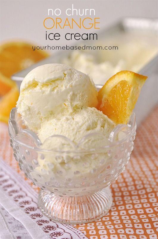 No Churn Orange Ice Cream