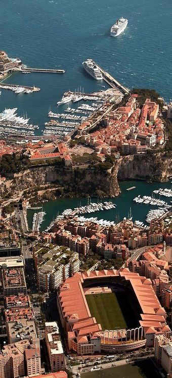 Port of Fontvieille, Monte Carlo, Monaco. Fontvieille is the newest of the four traditional districts in the principality of Monaco. Located in the western part of Monaco, its construction was started in the 1970s. New plans exist to extend Fontvieille, due to Monacos growing economy and population. (V)