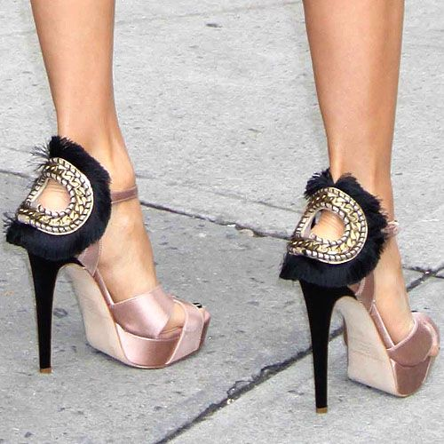 Eva Longoria in Brian Atwood Vanity sandals