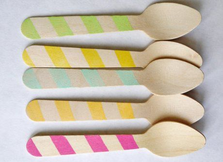 eco-friendly striped spoons / sweet