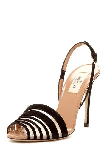 Valentino Velvet Slingback Sandal by Designer Shoe Shop on @HauteLook