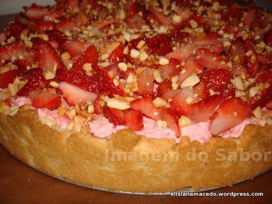 Torta Mousse de Morango