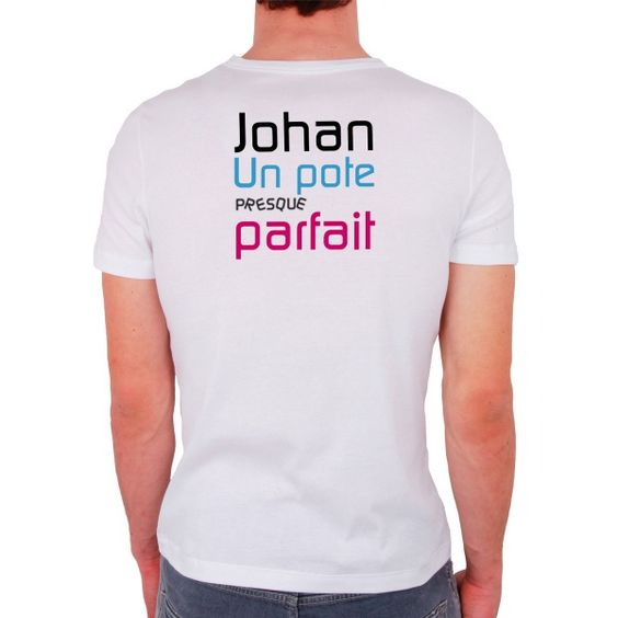 T-shirt pour homme personnalisé - Presque Parfait poupepoupi.com
