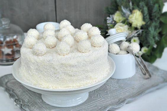 Himbeer Kokos Schneekugel von ladyapplepie.com