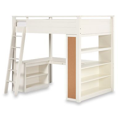 joseph's bed with his dresser where this bookshelf is