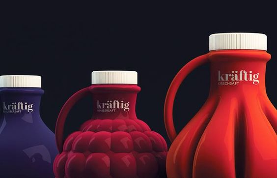 + Design de produto :   Projeto da Isabela Rodrigues Studio, a Kräftig Saft é uma fabrica brasileira de sucos, com foco no mercado alemão.