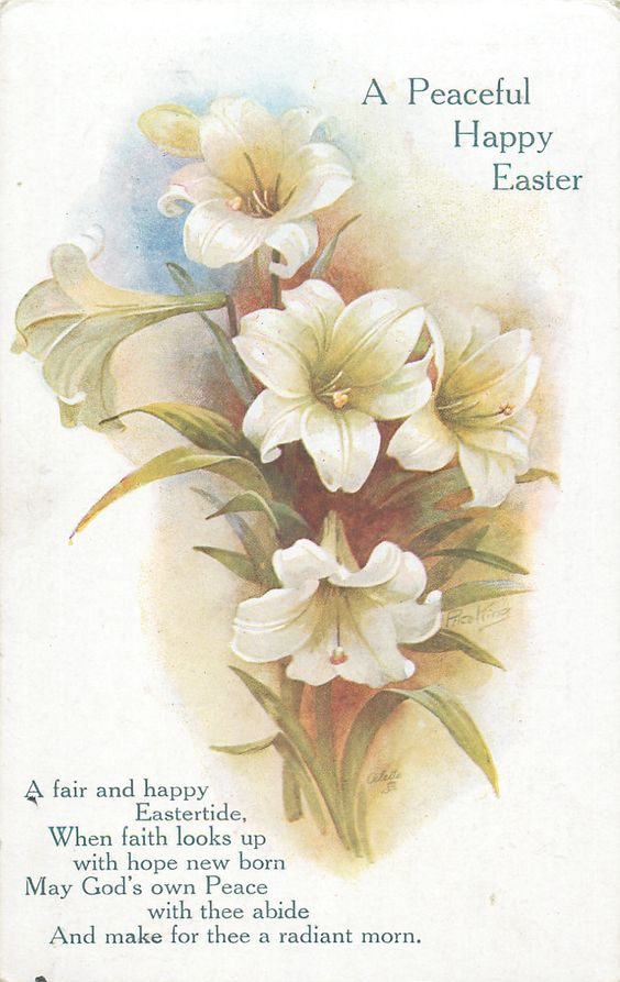 A PEACEFUL HAPPY EASTER  lilies: