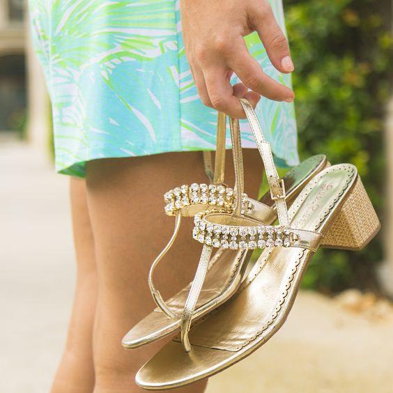Pretty gold sandals