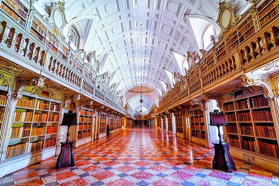 The most beautiful library in the world, USA - Mafra, Portugal