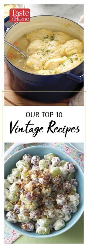 Our Top 10 Vintage Recipes