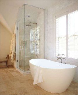 Shower and Bath  http://houseandhome.com