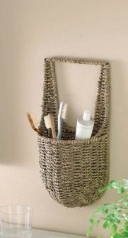 sea grass wall basket