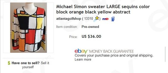 Michael Simon sweater $2 at thrift store sold for $36  Learn to sell used women's sweaters on eBay