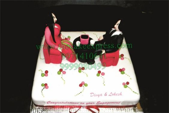 ENGAGEMENT COUPLE CAKE