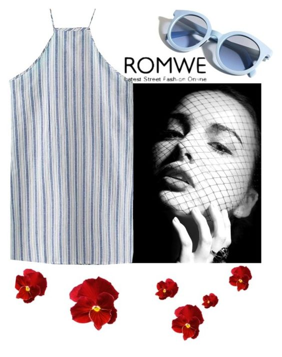 """""""Romwe"""" by bulp ❤ liked on Polyvore featuring Pinko"""