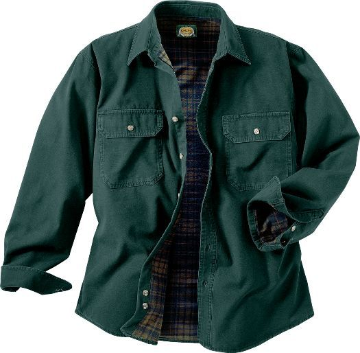 Cabela's: Cabela's Flannel-Lined Stonewash Canvas Shirt - Tall 2XL
