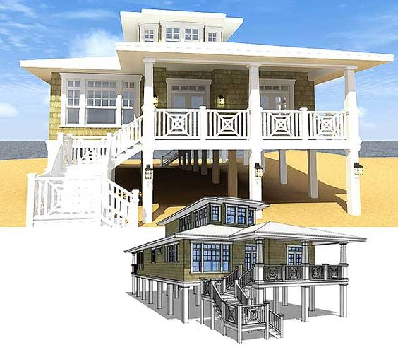 water beach house plans and beach houses on pinterest