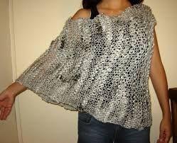 Poncho Artesanal Tejido A Crochet Artesanalmente