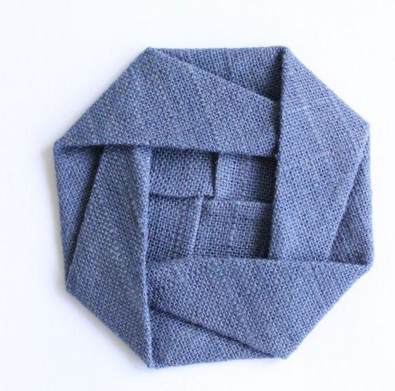 Folded fabric origami roses