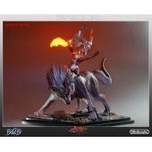 Zelda Wolf Link And Midna Statue - Exclusive Light Up Version