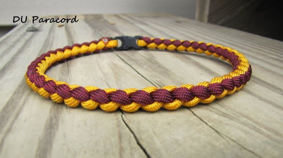 Hand Braided Paracord Sports Necklace by DUParacordNecklaces, $6.90