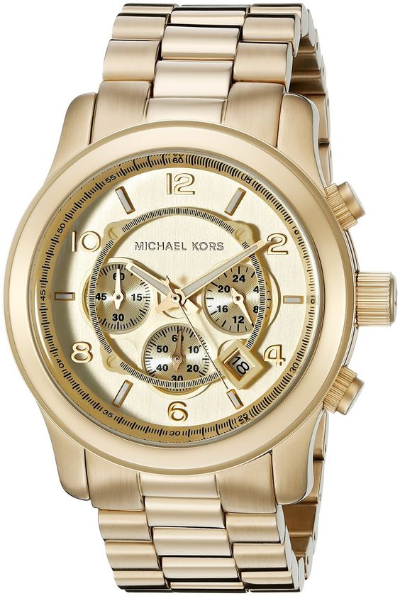 Michael Kors Goldtone Mens Watch MK8077 | 25% desligar