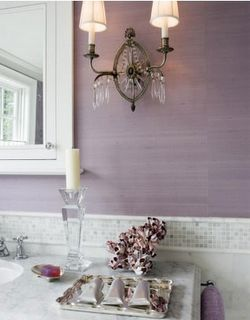 Love the wall color, the lamp, the candle holder and the overall feeling this bathroom give me.