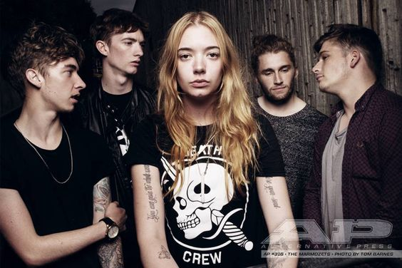 Can I hang this band poster up right next to my heart? // Marmozets - Outtake from AP318 [Photo by Tom Barnes]