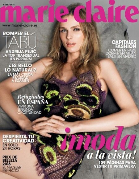 Andreja Pejic for Marie Claire Spain March 2016: