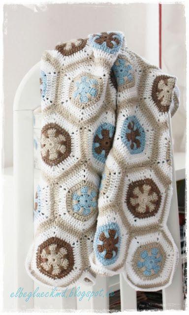 Granny Squares Hexagon Baby Blanket
