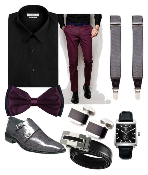 """lost"" by darrick-howard-ii on Polyvore featuring Van Heusen, Noose & Monkey, Barneys New York, Saddlebred, Stacy Adams, Tateossian, TAG Heuer, men's fashion and menswear"