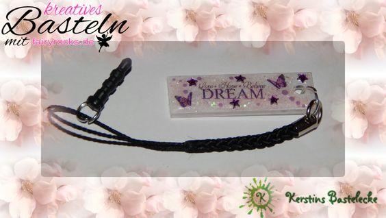 #Handyanhänger #Rosa #Glitter #Schmetterling #Sterne