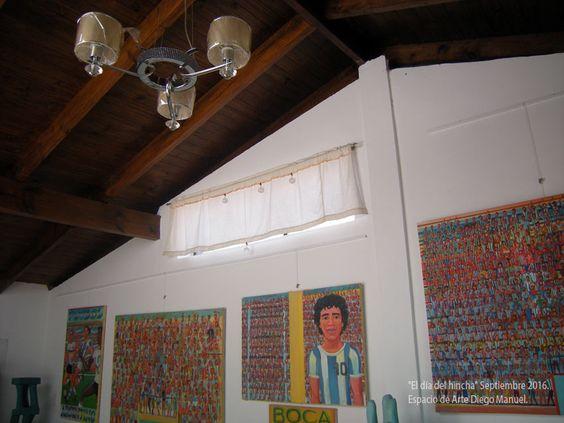 El día del Hincha, exposición de pinturas, Septiembre de 2016. Espacio de arte Diego Manuel, Art Showroom, Sala blanca
