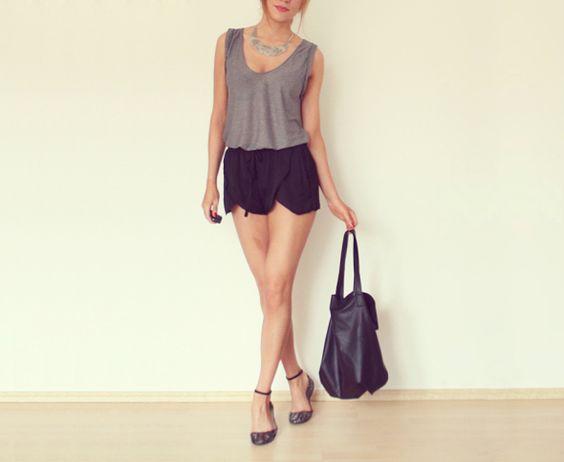 zara solk shorts