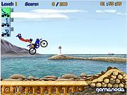 A sweet game of performing motorcycle stunts over jumps as you compete on each level for a high score.