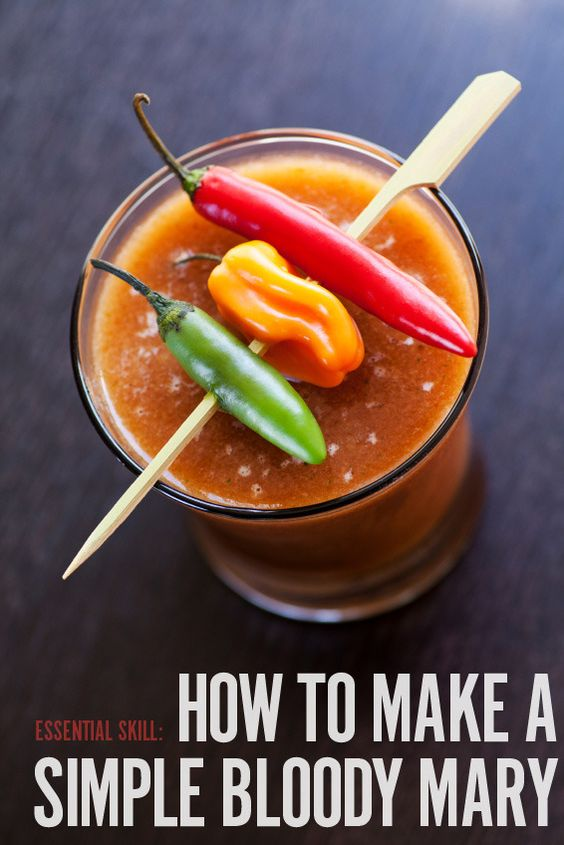 Bloody mary, Back to basics and How to make on Pinterest