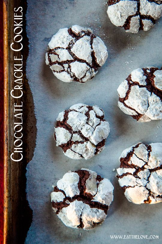 Chocolate Crackle Cookies.